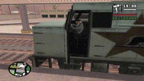 Dirigir trem no GTA San Andreas