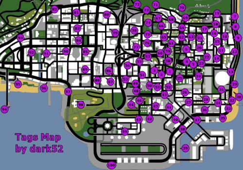 Pichações do jogo GTA San Andreas