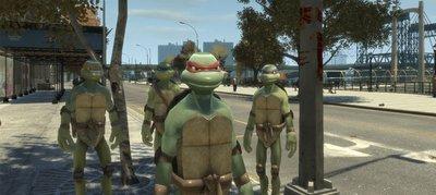 MOD das Tartarugas Ninja para GTA IV
